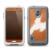 The Real Brown Cow Coat Texture Samsung Galaxy S5 LifeProof Fre Case Skin Set
