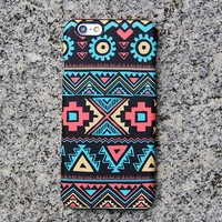Navajo Aztec iPhone XR Case Geometric Shapes iPhone 8 SE Case Turquoise Samsung Galaxy S8 S6  S3 Note 3 Case 028