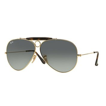Ray Ban RB3138 181/71 62 62mm Gold Grey Gradient