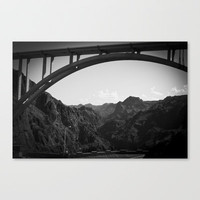 Canyon Bridge Stretched Canvas by Upperleft Studios