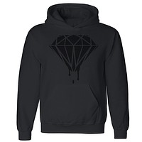 "Zexpa Apparelâ""¢ Black Diamond Dripping Melting Bleeding Unisex Hoodie Dope Hooded Sweatshirt"