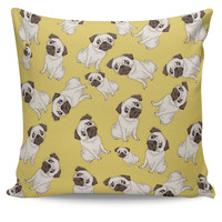 Pug Life Pattern Cushion Cover