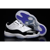Air Jordan Retro 11 Space Jam Concord Bred Original Men Size Basketball Shoes With Box