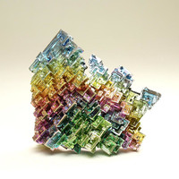 Stunning Rainbow Colored Bismuth Crystal Cluster