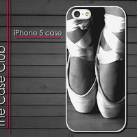 iPhone 5 Case - Ballet Slippers Black and White - iPhone 5 cover  iPhone 5 skin - Hard Plastic Case