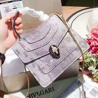 Bvlgari sells vintage snakerhead gold button single shoulder bag fashion casual lady shopping bag Sequins styles