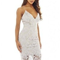 AX Paris Women's Lace V Neck Midi Dress