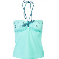 Sperry Top-Sider Anchor Your Style Bandeaukini Tankini Top - Women's Seafoam,