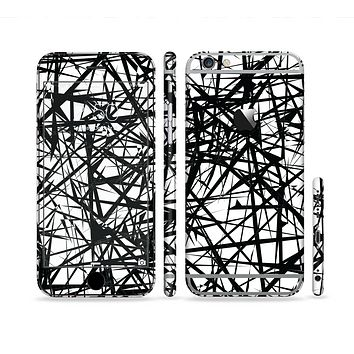 The Black and White Shards Sectioned Skin Series for the Apple iPhone 6