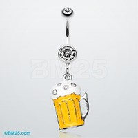 Frosty Beer Belly Ring