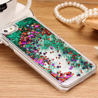 Green Liquid Glitter Case For iPhone 7 7Plus 6 6s Plus 5 5s SE