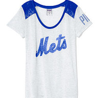 New York Mets Lace High-low Tee - PINK - Victoria's Secret