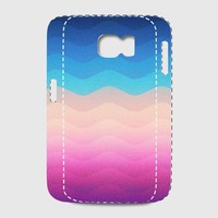 Pride Rainbow Wave (Colorful Geometric) Phone Case Samsung Galaxy S7 Premium Case | Spreadshirt