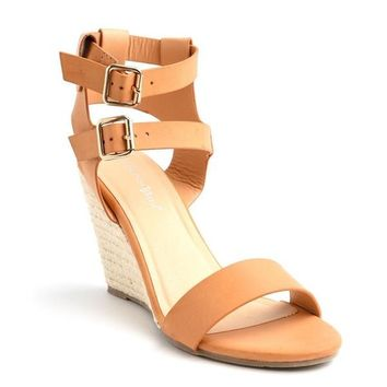 VIVA CAMEL WEDGE SHOES