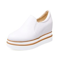 Round Toe Platform Wedge Loafers Shoes for Woman MF4824