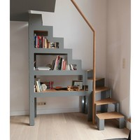 Self supporting steel and wood Open staircase LIBRO by Jo-a | design Sébastien Boucquey