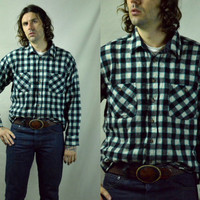 Vintage REI Mountaineer Logger Style Wool Plaid Flannel Shirt Jacket
