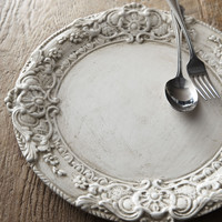 Whitewashed Wood Charger Plate - Neiman Marcus
