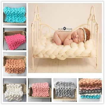 Wool Knit Soft Baby Blanket (Multiple Colors Available!)