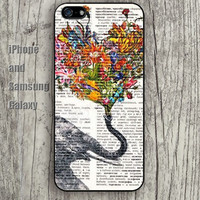 Elephant pattern love iphone 6 6 plus iPhone 5 5S 5C case Samsung S3,S4,S5 case Ipod Silicone plastic Phone cover Waterproof