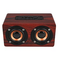 HIPERDEAL Dual High Performance Drive 5Wx2 Output Retro Wood Wireless Stereo