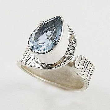 Alexandrite Sterling Silver Adjustable Wrap Ring