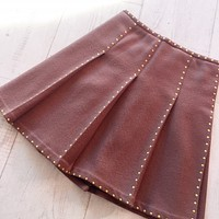 Tocca Silk Lined Wool Skirt