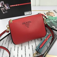 prada women leather shoulder bags satchel tote bag handbag shopping leather tote crossbody 128