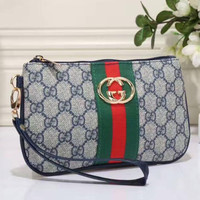 GUCCI Zipper Women Leather Purse Wallet Satchel H-LLBPFSH