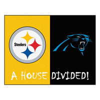 PITTSBURGH STEELERS/CAROLINA PANTHERS HOUSE DIVIDED ALL-STAR FLOOR MAT (34X45)
