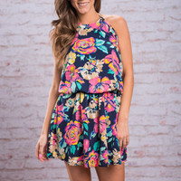 A Thing Of Beauty Dress, Navy