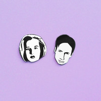 Mulder and Scully X-Files earrings