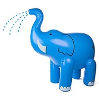 BigMouth Inc Ginormous Inflatable Blue Elephant Yard Summer Sprinkler, Stands Over 6 Feet Tall, Perfect for Summer Fun