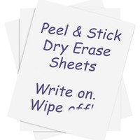 """Houseables Dry Erase Sheets, 5 Pack, White Board Vinyl Stickers, 8.5"""" x 11"""", 21.6 X 27.94 cm, PVC Whiteboard Wall Decal, Self Adhesive, Peel & Stick, Reusable, Erasable, Home, Office, Restaurant"""