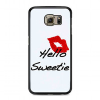kiss hello sweetie For samsung galaxy s6 case