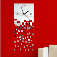 Mirror Stylish Strong Character Decoration Clock [4918605508]