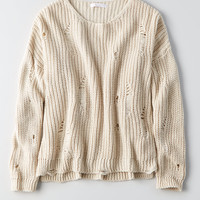 Don't Ask Why Destroyed Sweater, Natural