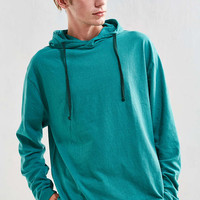 UO Box Fit Jersey Hoodie Tee - Urban Outfitters