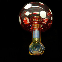 Unique Mushroom Glass Pipe