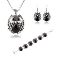 Shiny Great Deal Gift Hot Sale New Arrival Awesome Fashion Stylish Metal Owl Set Necklace Earring Jewelry Bracelet [6058218689]