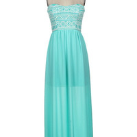 Colors of Spring Maxi Dress- Mint