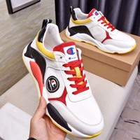 Champion  Men Fashion Boots fashionable Casual leather Breathable Sneakers Running Shoes