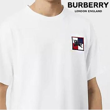 BURBERRY Fashion Women Men Casual Emroidery Round Collar T-Shirt Top Blouse
