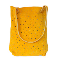 Suede Dot Tote
