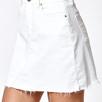 Calvin Klein White A-Line Denim Mini Skirt at PacSun.com
