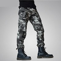 2017 New Men Joggers Camouflage Cargo Pants Winter Autumen Tactical Army Green Men's Military Trousers Cotton Sitka Pantaloni