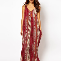 MinkPink Maya Scarf Print Beach Maxi Dress