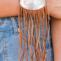 Cowgirl Up Fringe Cuff