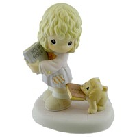 Precious Moments FAITHFUL FOLLOWER Porcelain Puppy Bible 4024086