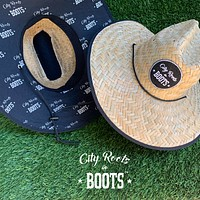 City Roots in Boots Straw Hat